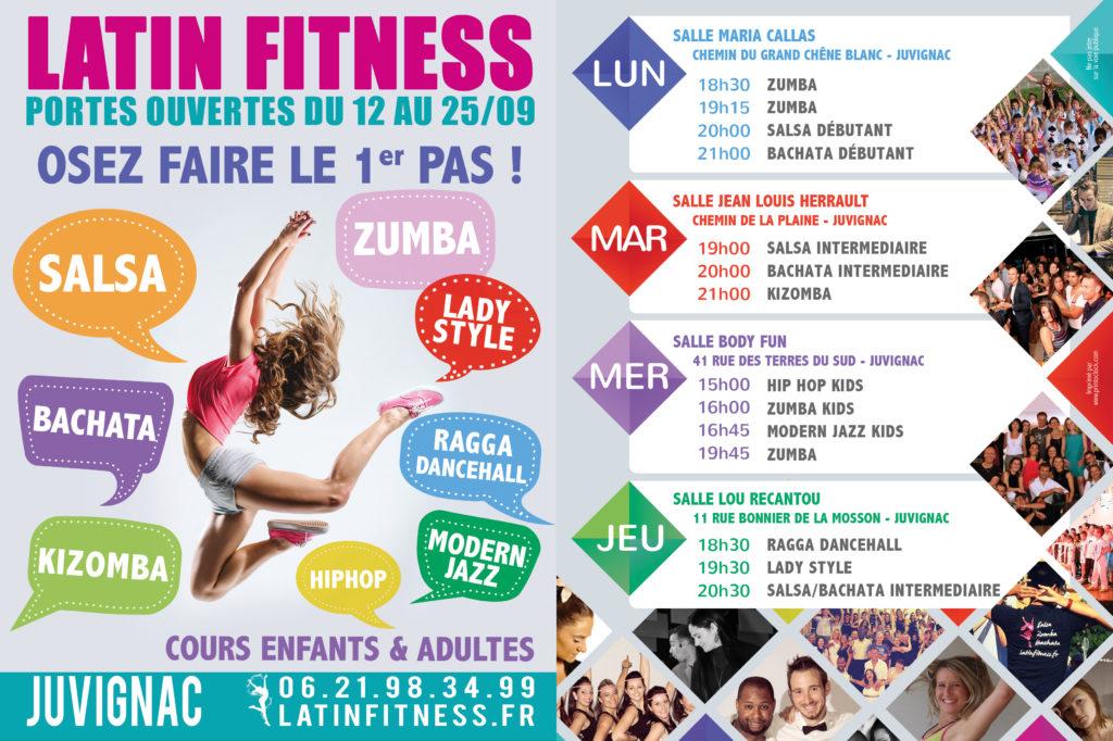 Nouveau Planning de cours de danse 2016/2017 avec Latin Fitness